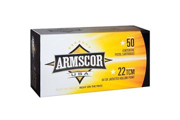 Picture of Armscor .22 TCM 40 Gr Jacketed Hollow Point Ammunition - Box of 50