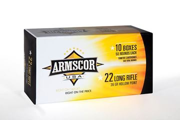 Picture of Armscor .22LR HVHP 36 Gr. Hollow Point Ammunition