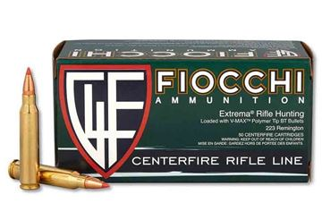 Picture of Fiocchi .223 Rem 50gr. V-Max Ammo -  Box of 50