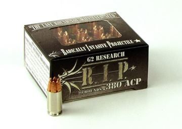 Picture of G2 Research 380 ACP 62gr. R.I.P. Ammo - Box of 20 rounds