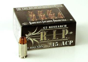 Picture of G2 Research 45 ACP 162gr. R.I.P. Ammo - Box of 20 rounds