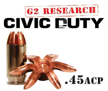 Picture of G2 Research Civic Duty 45 ACP Ammo - Box of 20 rounds