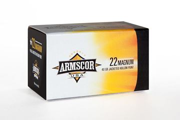Picture of Armscor 22 Mag 30 Grain Jacketed Hollow Point Rimfire 50 Round Box