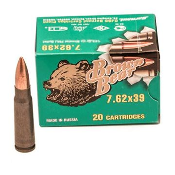 Picture of Ammo, Brown Bear, AB7622FMJ, 7.62x39, 123 gr., FMJ, 20rd per box