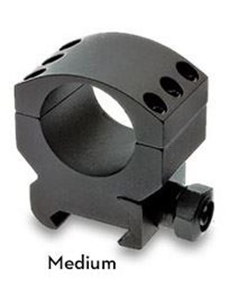 Picture of Burris Optics 420162 Xtreme Tactical Picatinni Style Rail 30 mm (1.18 inch) Rings, Medium 1/2 inch Height, Two Rings