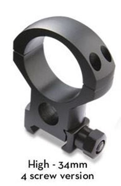 Picture of Burris Optics Xtreme Tactical 34 mm Riflescope Rings, Fits Picatinny-Style Rail, XHigh, 1 inch Height, 2 Rings, Matte Black