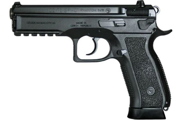 Picture of CZ 75 SP-01 Phantom 9mm Luger Pistol, Polymer Frame, Decocker 91258
