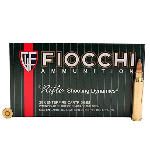 Picture of Fiocchi .223 Remington 55 Gram Pointed Soft Point Ammo (Box of 20 Round)