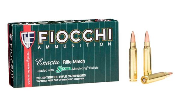 Picture of Fiocchi Ammunition 223 Rem 77 Grain Sierra Matchking Hollow Point Boat Tail 20 Round Box