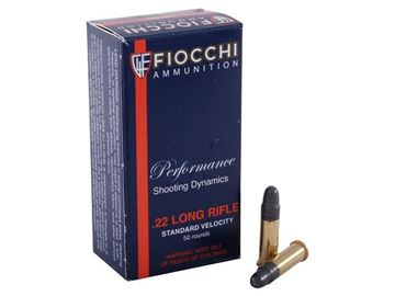 Picture of Fiocchi .22LR 40gr Lead RN  980FPS Match Ammo - Box of 50