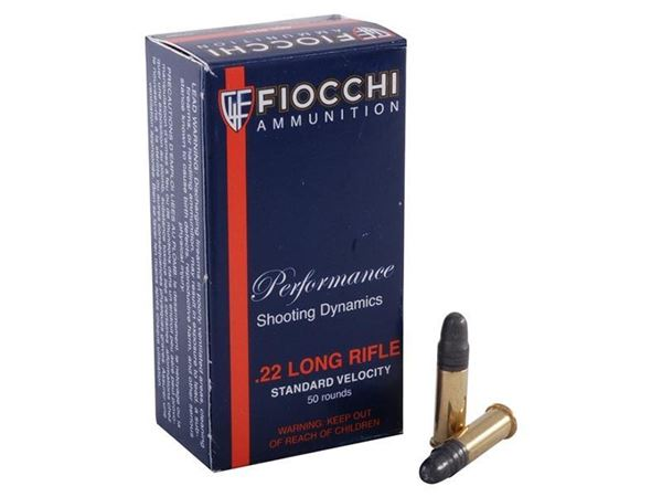 Picture of Fiocchi .22 Long Rifle 40 Grain Lead RN 980FPS Match Ammo (Box of 50 Round)