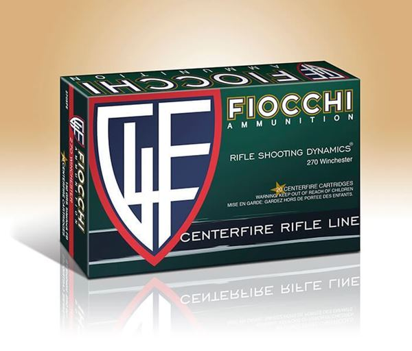 Picture of Fiocchi Ammunition 270 Win 150 Grain Interlock Flat Base Pointed Soft Point 20 Round Box