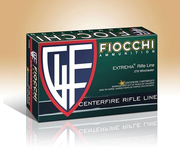 Picture of Fiocchi Ammunition 270 Win 150 Grain Extrema Interlock Flat Base Pointed Soft Point 20 Round Box