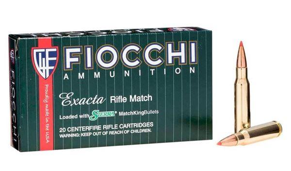 Picture of Fiocchi Aummunition 308 Win 168 Grain Exacta Match Sierra MatchKing 20 Round Box