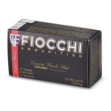 Picture of Fiocchi 12 ga 2 3/4 #4 Buck 27 Pellet Hi-Velocity Shells - Box of 10