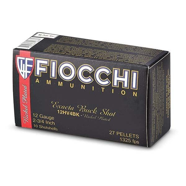 Picture of Fiocchi 12 Gauge 2 3/4 #4 Buck 27 Pellet High Velocity Shells (Box of 10)