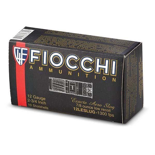 Picture of Fiocchi 12 Gauge 2 3/4 7/8oz Low Recoil Slug Ammo (Box of 10)
