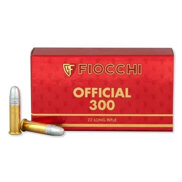 Picture of Fiocchi Ammunition 22 LR 40 Grain Exacta Official Super Match 50 Round Box