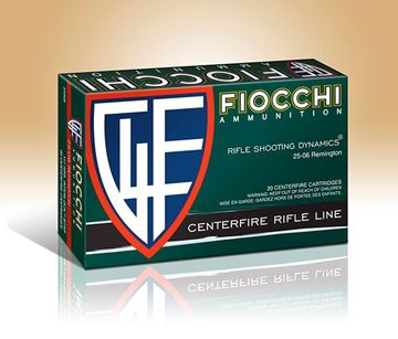 Picture of Fiocchi Ammunition 25-06 Rem 117 Grain Interlock Boat Tail Soft Point 20 Round Box