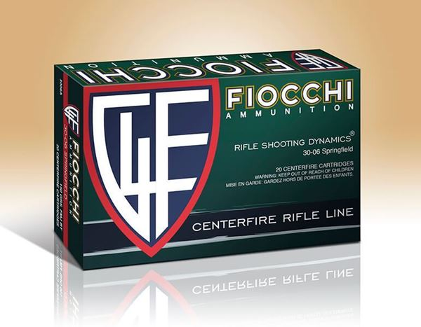 Picture of Fiocchi Ammunition 30-06 Springfield 180 Grain Boat Tail Pointed Soft Point 20 Round Box