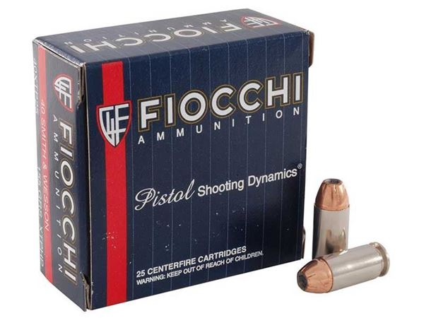 Picture of Fiocchi Ammunition 40 S&W 155 Grain Hornady XTP Jacketed Hollow Point 25 Round Box