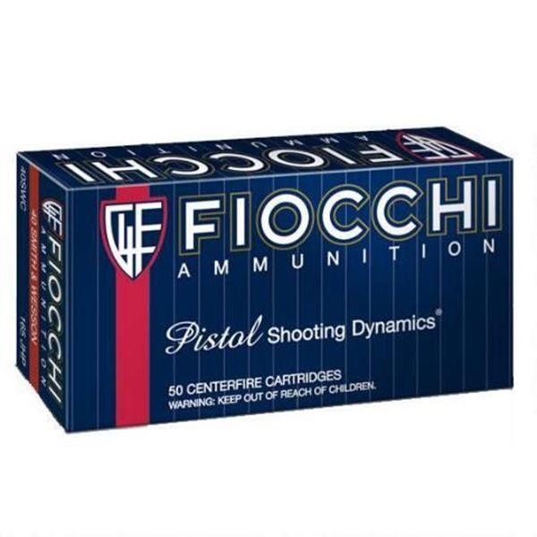 Picture of Fiocchi Ammunition 40 S&W 165 Grain Jacketed Hollow Point 50 Round Box