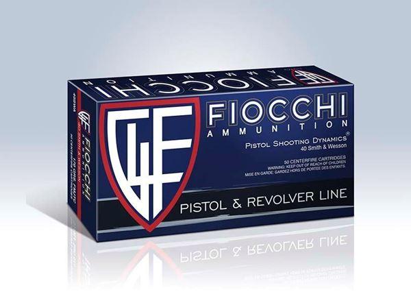 Picture of Fiocchi Ammunition 40 S&W 180 Grain Copper Metal Jacket Truncated Cone 50 Round Box