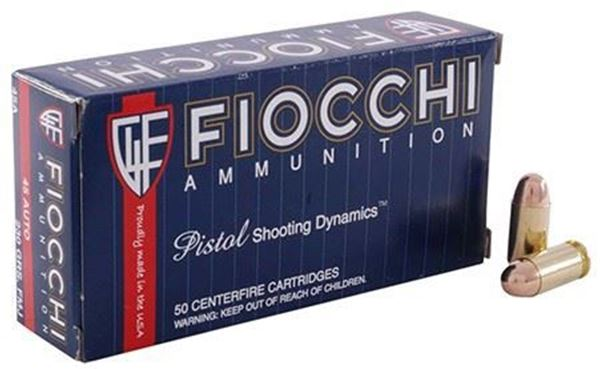 Picture of Fiocchi Ammunition 45 ACP 230 Grain Complete Metal Jacket 50 Round Box