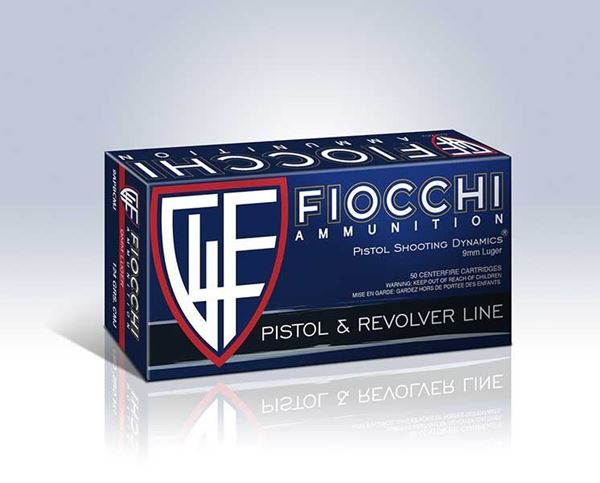 Picture of Fiocchi 9 mm 115 Grain Full Metal Jacket Copper Ammo (Box of 50 Round)
