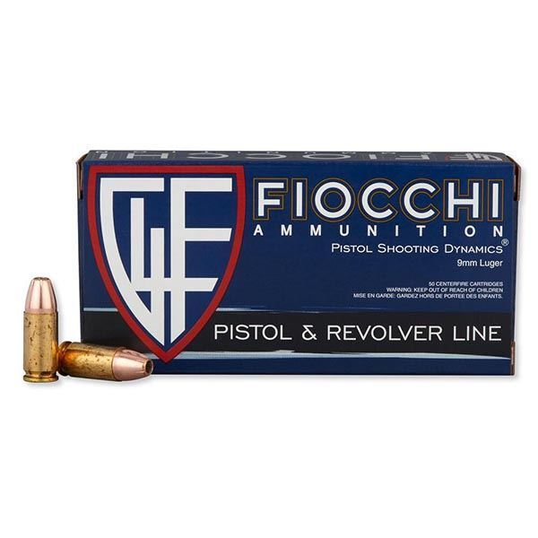 Picture of Fiocchi Ammunition 9mm 115 Grain Jacketed Hollow Point Projectile 50 Round Box