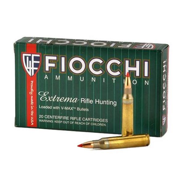 Picture of Fiocchi Ammunition 22-250 Rem 40 Grain V-Max Polymer Tip Boat Tail 20 Round Box