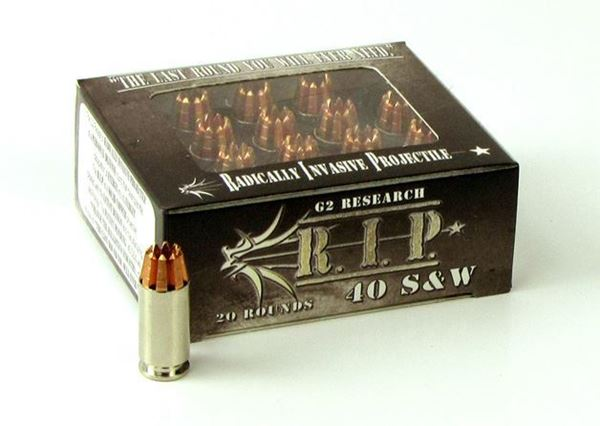 Picture of G2 Research .40 S&W 115 Grain R.I.P. Ammo - Box of 20 round