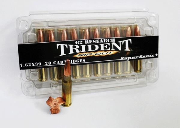 Picture of G2 Research Trident 7.62 x 39 124 Grain Ammo - Box of 20 round