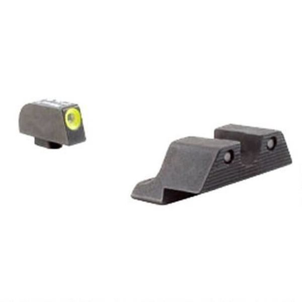 Picture of Trijicon HD Night Sights - Yellow Front Outline Glock 42 & 43 Handguns 600784