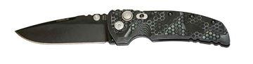"Picture of Hogue EX-01 3.5"" G-Mascus Black Cerakote G10 Frame Tread Folder Drop Point Blade"