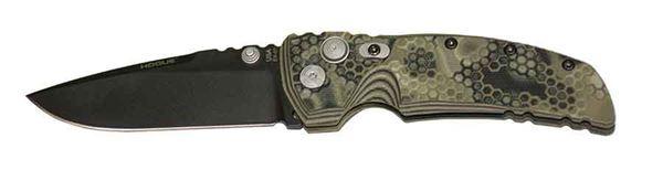 "Picture of Hogue EX-01 3.5"" G-Mascus Green Cerakote G10 Frame Tread Folder Drop Point Blade"