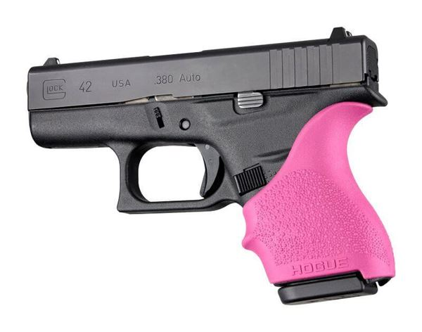 Picture of Hogue Hand All Beaver Tail Glock 42, 43 Pistol Grip Sleeve - Pink