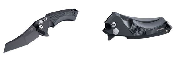 Picture of Hogue X5 Folding Knife Push-Button with Manual Safety and Stainless Steel Blade