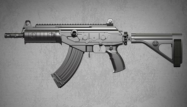 Picture of IWI Galil Ace 7.62 x 39mm Semi Auto Pistol with 8.3 in Barrel, Folding Stabilizing Brace and 30 Round Magazine