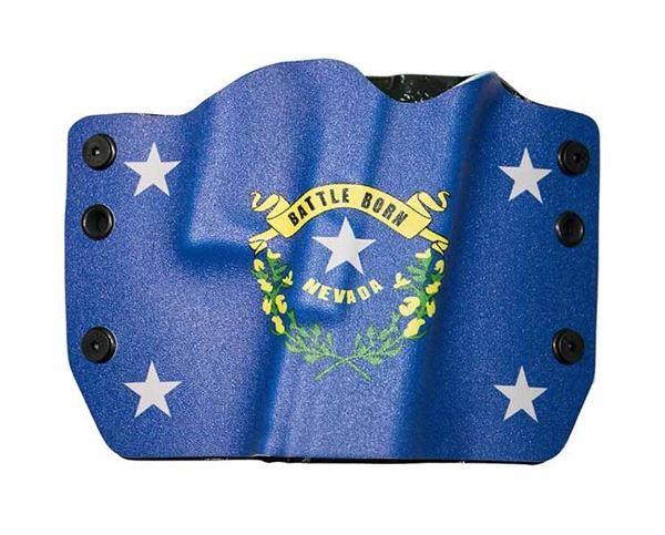 Picture of Bullseye Holster OWB RH GLOCK - Nevada Flag