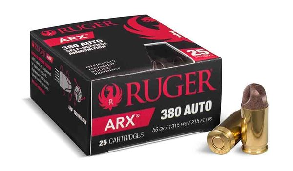 Picture of Ruger ARX .380 ACP Ammo, 250 Rounds Box (25 Cartridges X 10 Case)