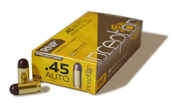 Picture of Polycase Ammunition 45 Auto 135 Grain Injection Molded Copper Polymer RNP 50 Round Box