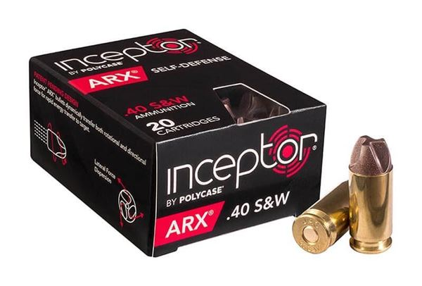Picture of Polycase Inceptor ARX .40 S&W Ammo, 20 Rounds