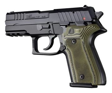 Picture of Rex Compact Grips Hogue Checkered Green Grips