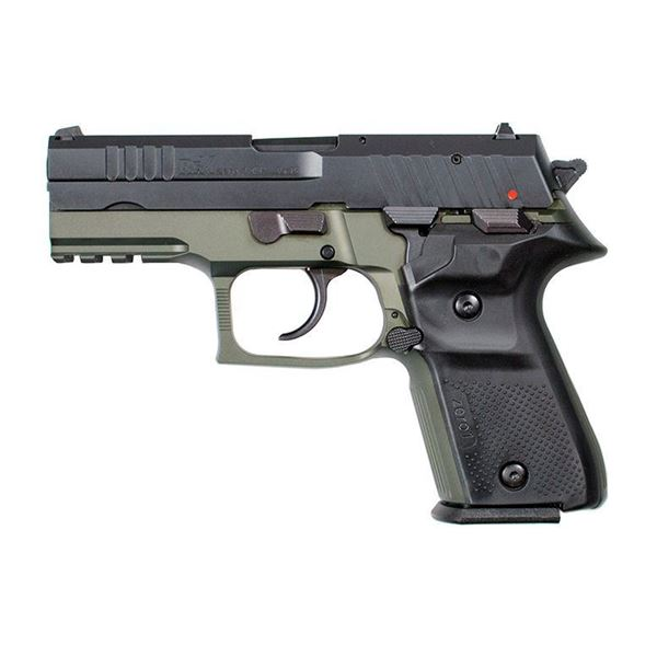 Picture of Rex Zero 1CP Pistol, 9mm, Green and Black, Two 15-Round Magazines, Hard Case