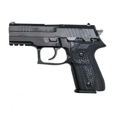 Picture of RexZero1CP Pistol, Black, Two 15-Round Magazines, 9mm With Hogue G10 grips and Hard Case