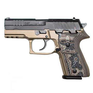Picture of Rex Zero 1CP Pistol, FDE, 9mm, Two 15-Round Magazines, Hogue G10 Dark Earth Grips
