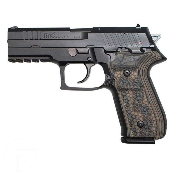 Picture of RexZero1S Blk 17rnd 9mm DE Grips