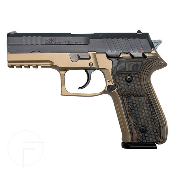 Picture of Arex Rex Zero 1S-03D Flat Dark Earth 9mm Semi-Automatic 17 Round Pistol