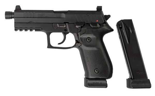 Picture of Arex Rex Zero 1 Tactical Black 9mm Semi-Automatic 20 Round Pistol